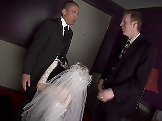 Blonde Bride Banged