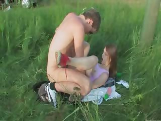 Brutal teenagers anal outdoor copulate