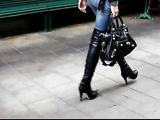 Overknees Jeans