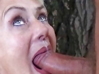 German Mature With Great Oral Skills Gets Thick Facial