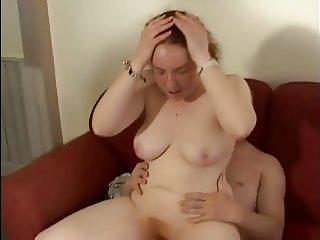 Chubby British Amateur Big Tit Redhead Fucked