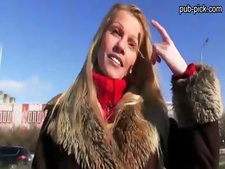 Glamour sweetheart Lucie fucks stranger