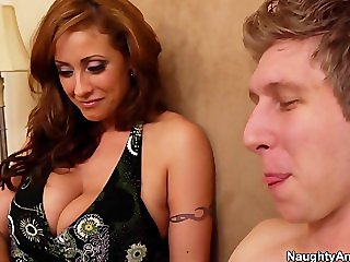MILF satisfied by a young stud