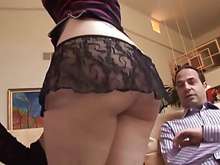 Older couple enjoying with a young girl