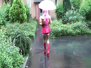rubber maid public in the rain...