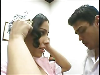 Latina Maid doing what her boss wants