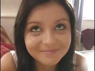 First time for European brunette