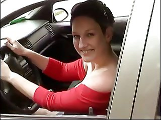 German Woman Car Blowjob