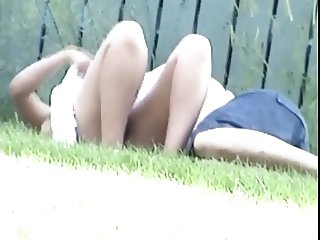 Upskirt Teen In Park