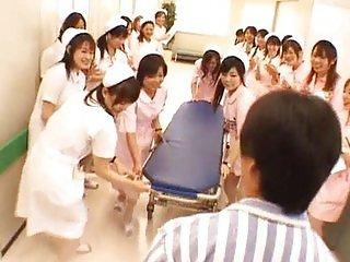 Asian nurses in a hot gangbang