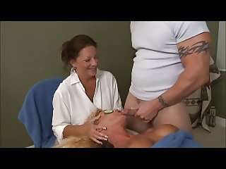 Special massage for blonde mature