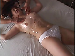 asian tied woman in panty gets played with