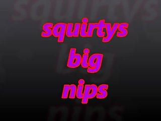 squirtys big nips with nipple jewelry
