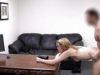 Sweetie bent over and fucked on camera