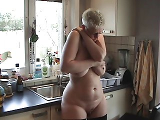 Trailer girl with her big tits