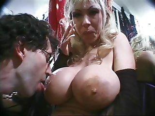Busty Elizabeth Sloppy BJ and Titfuck