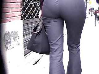 Candid Ass in Jeans 01 slow motion