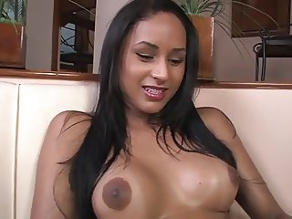 Gorgeous Brazilian tranny with braces
