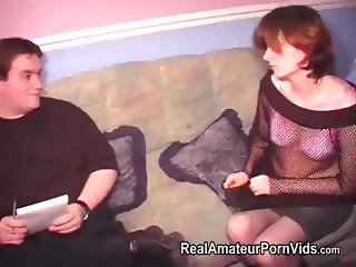 Fat man fucking a skinny woman in stockings