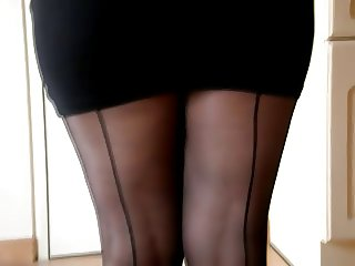 HIGH HEELS AND BLACK NYLONS