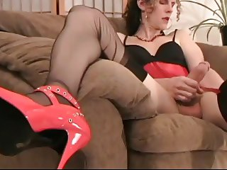 Tranny Fetish And Cumshot