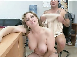 Irish MILF gets fucked in the office