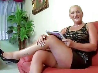 Chunky granny loves cock