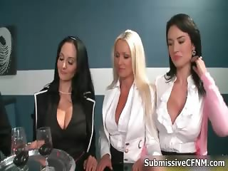 Busty blonde and brunette babes get part4
