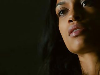 Rosario Dawson Full Shaved Pussy in Trance 2013