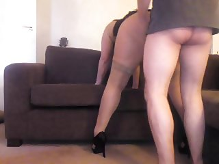 Horny big assed slut invites me to fuck her