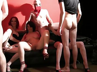group sex with hot french milfs