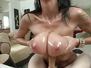 MILF Alia Janine fuck a dick with her big soft tits PTD