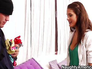 Young babe has some rough sex
