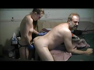 Strapon Courtney fucks me deep and hard