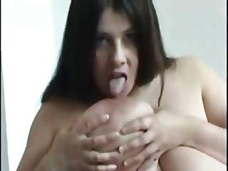 Melons she licks em herself