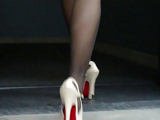 nylon and heels
