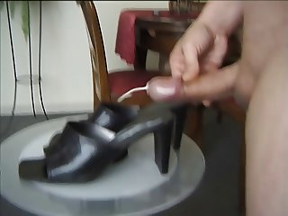 Cumshot on GF Highheels part 024