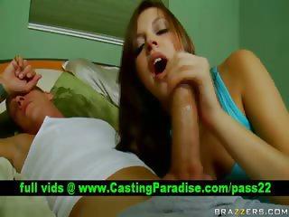 Missy Stone gorgeous teen blowjobs huge dick