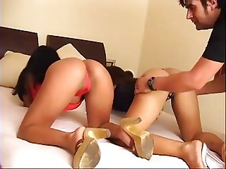 2 Hot Girls Sharing a Hard Cock