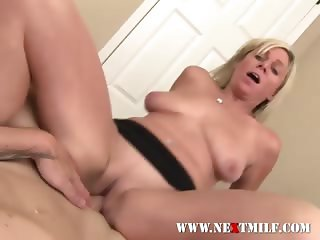 Horny Blonde MILF Banged In All Holes