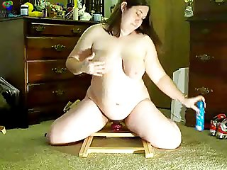Hairy BBW girl with toys part 2
