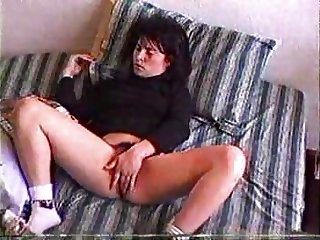 Girl Fingering her hairy pussy