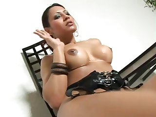 hot shemale in lingerie shafted by guy
