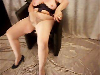 Hot grandmother is masturbating