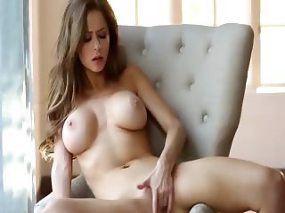 sweet brunette have sleek solo action