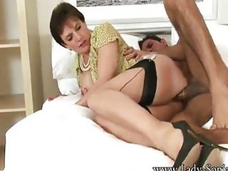 Lady Sonia Riding The Guy From The Gym