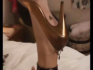 Gold Pumps Shoejob
