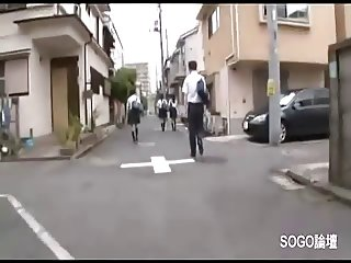 Japanese girl under attack