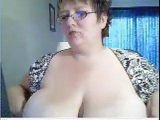 mature bbw big boobs on wecam
