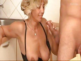 Mature blond anal fuck